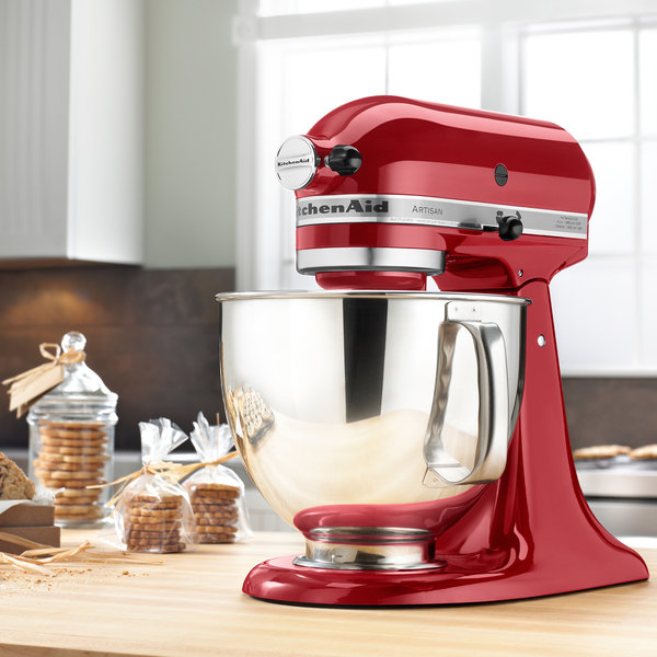 KitchenAid KSM150PSER Artisan Series Empire Red 5 Qt. Tilt Head Countertop Mixer - 120V. Image Preview ...