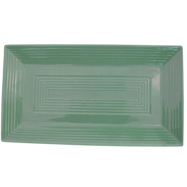 "CAC TG-RT13-G Tango 11 5/8"" x 6 3/8"" x 1"" Green Rectangular Platter - 12/Case"