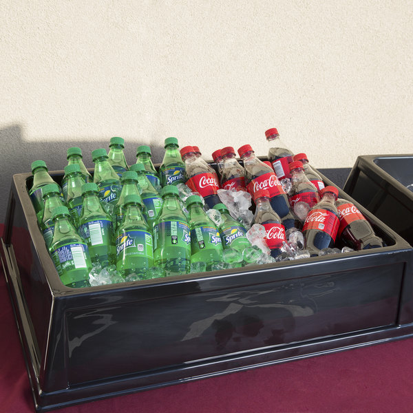 "Geneva 298 Insulated Beverage Bin with High Gloss Black Finish - 20 3/4"" x 28 3/4"" x 6 3/4"""