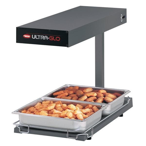 Hatco UGFFBL Ultra-Glo Gray Portable Food Warmer with Base Heat and Lights - 120V, 1120W