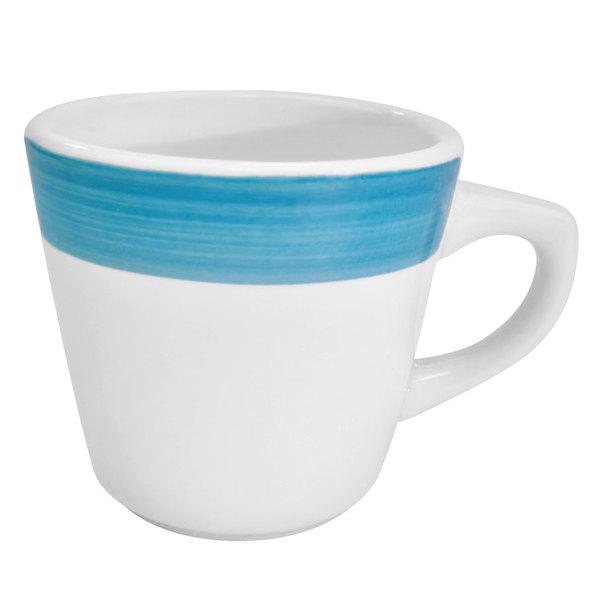 CAC R-1-BLU Rainbow Coffee Cup 7.5 oz. - Blue - 36/Case
