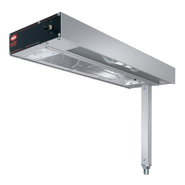 "Hatco GRFSL-24I Glo-Ray 9"" Fry Station Overhead Warmer with Metal Elements, Lights, Plug, and Infinite Controls - 120V, 620W"