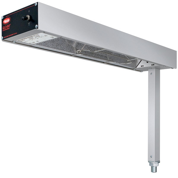 """Hatco GRFS-24 Glo-Ray 6"""" Fry Station Overhead Warmer with Metal Elements and Plug - 120V, 500W"""
