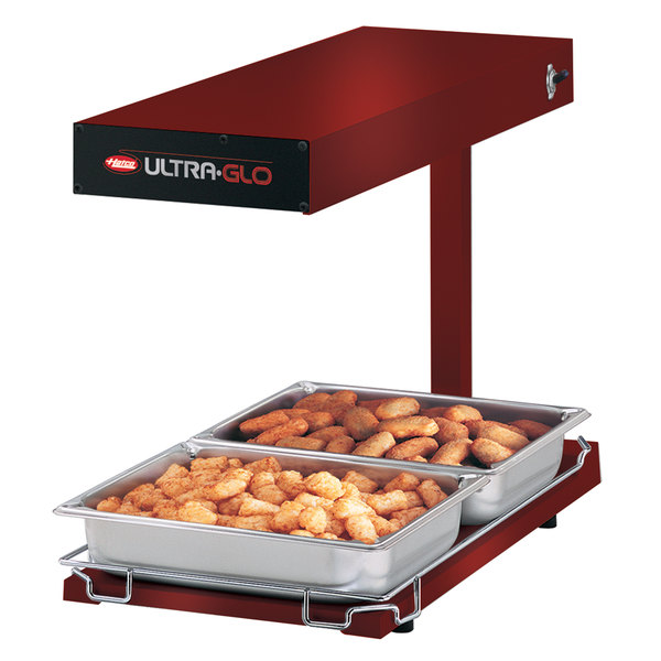 Hatco UGFFBL Ultra-Glo Radiant Red Portable Food Warmer with Base Heat and Lights - 120V, 1120W