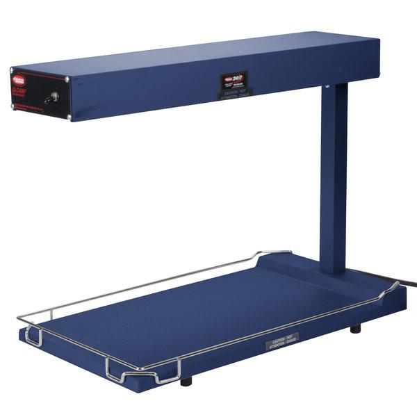 """Hatco GRFFB Glo-Ray Brilliant Blue 12 3/4"""" x 24"""" Portable Food Warmer with Heated Base - 120V, 750W"""