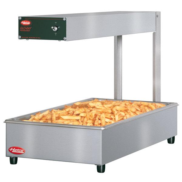 "Hatco GRFFI Glo-Ray Glossy Gray 12 3/8"" x 24"" Portable Food Warmer with Infinite Controls - 120V, 500W"