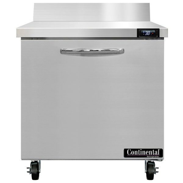 "Continental Refrigerator SW32-BS 32"" Worktop Refrigerator with Backsplash"