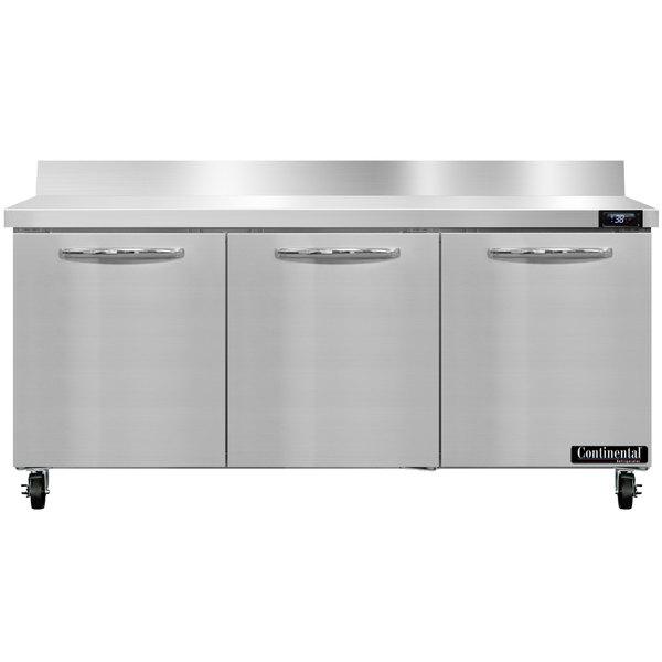 "Continental Refrigerator SW72-BS 72"" Worktop Refrigerator with Backsplash"
