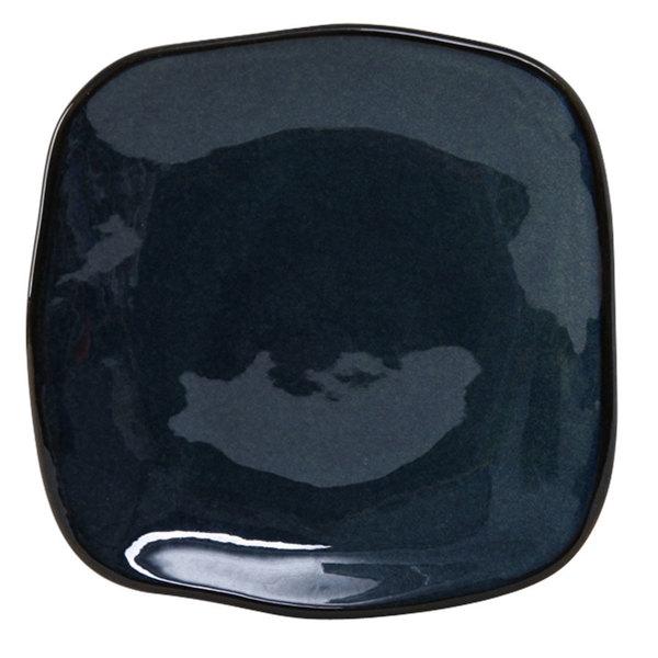 "Tuxton GAN-500 TuxTrendz Artisan Night Sky 7 1/4"" Square China Plate - 12/Case"