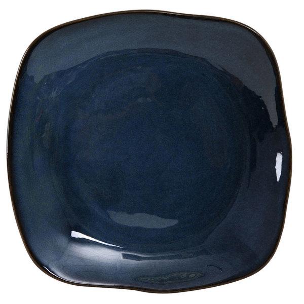 "Tuxton GAN-502 TuxTrendz Artisan Night Sky 11"" Square China Plate - 12/Case"