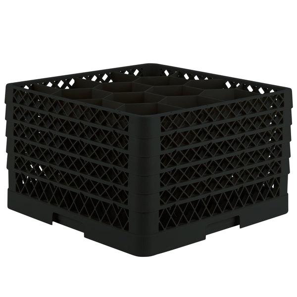 "Vollrath TR18JJJJJ Traex® Rack Max Full-Size Black 12-Compartment 11 7/8"" Glass Rack"