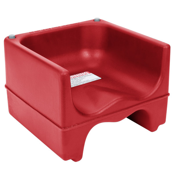 Cambro 200BC158 Hot Red Plastic Booster Seat - Dual Seat