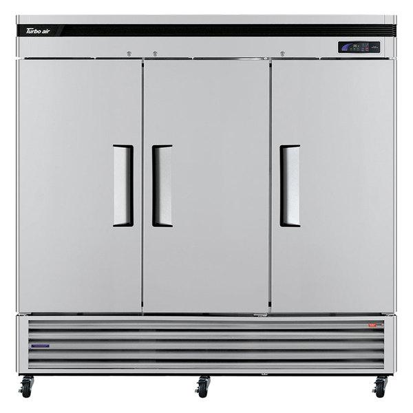 "Turbo Air TSR-72SD Super Deluxe 82"" Solid Door Reach In Refrigerator"
