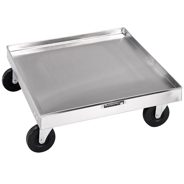 """Lakeside 447 Stainless Steel Glass / Dish Rack Dolly - 20 3/4"""" x 20 3/4"""" x 6 1/4"""""""