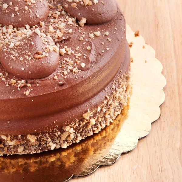 """12"""" Cake Circle Gold Laminated Corrugated - 100/Case"""