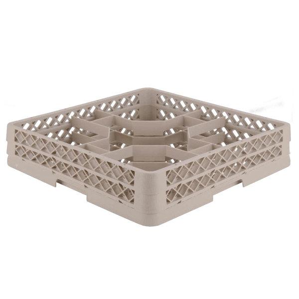 "Vollrath TR13J Traex® Rack Max Full-Size Beige 12-Compartment 2 1/16"" Glass Rack"