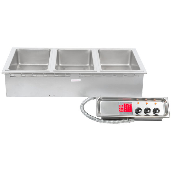 APW Wyott HFW-3 Insulated Three Pan Drop In Hot Food Well Main Image 1