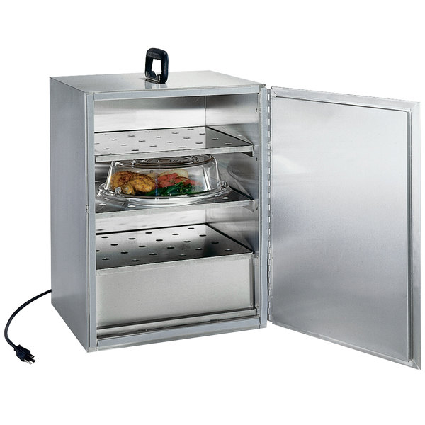 Lakeside 113 Stainless Steel Three Shelf Food Carrier Box - 115V