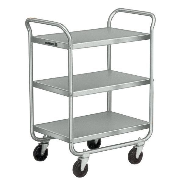 Metal Utility Cart: Lakeside 222 Stainless Steel Three Shelf Tubular Utility