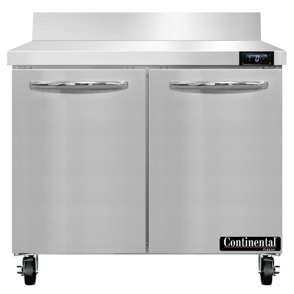 "Continental Refrigerator SWF36-BS 36"" Two Door Worktop Freezer with Backsplash"