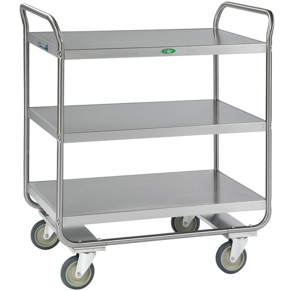 Lakeside 244 Stainless Steel Three Shelf Tubular Utility Cart - 36\