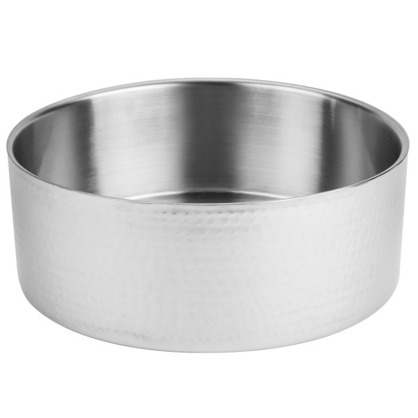 American Metalcraft DWBH14 10.6 Qt. Hammered Double Wall Insulated Stainless Steel Bowl