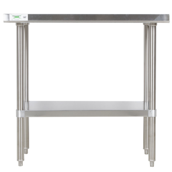 gridmann stainless steel commercial kitchen prep work table w backsplash 30 x 24 utilize space faceted wo
