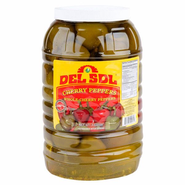 Del Sol 1 Gallon Whole Cherry Peppers - 4/Case