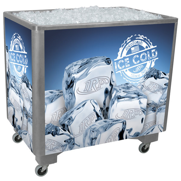 IRP Gray Ice Saver 060 Mobile 100 Qt. Frost Box with Casters
