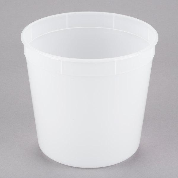 2.7 Qt. Translucent Round Deli Container - 200/Case Main Image 1