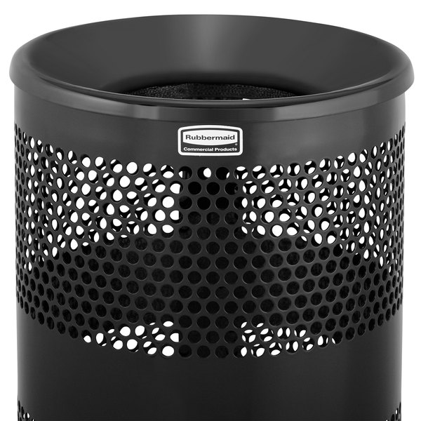 Rubbermaid FGFTH1BK Towne Series Black Funnel Top for FGH1N Containers