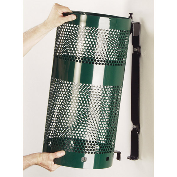 Rubbermaid Fgh9negn Towne Series Empire Green Perforated