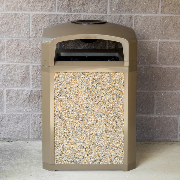 Rubbermaid FG400300ROCK River Rock Aggregate Panel for FG397000, FG397001, FG397088, FG397100, and FG397200 Landmark Series Classic Containers Main Image 6
