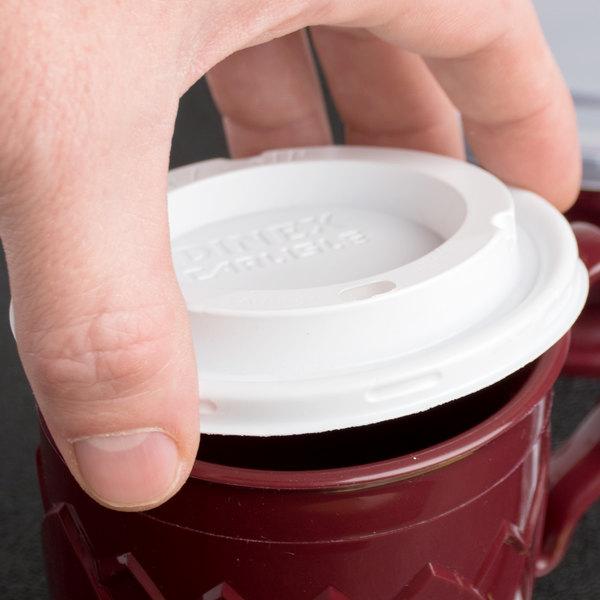 Dinex DX50008775 Fenwick EZ Sip Translucent Lid for Dinex DX5200 Fenwick 5 oz. Insulated Bowls and DX5000 Fenwick 8 oz. Insulated Mugs - 1000/Case
