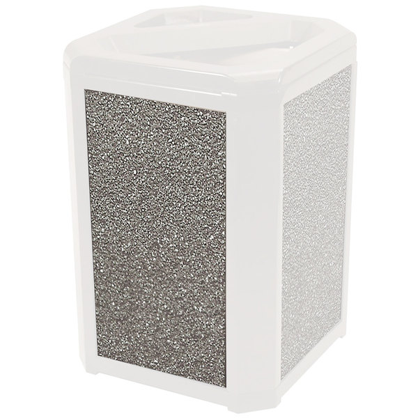 Rubbermaid FG400400BSTON Brown Stone Aggregate Panel for FG397500 and FG397501 Landmark Series Classic Containers Main Image 1