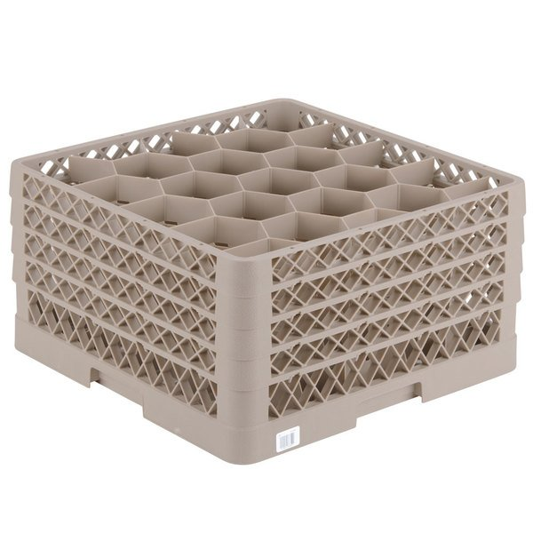 """Vollrath TR11GGGG Traex® Rack Max Full-Size Beige 20-Compartment 9 7/16"""" Glass Rack"""