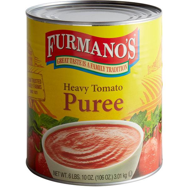 Furmano's #10 Can Heavy Tomato Puree - 6/Case Main Image 1