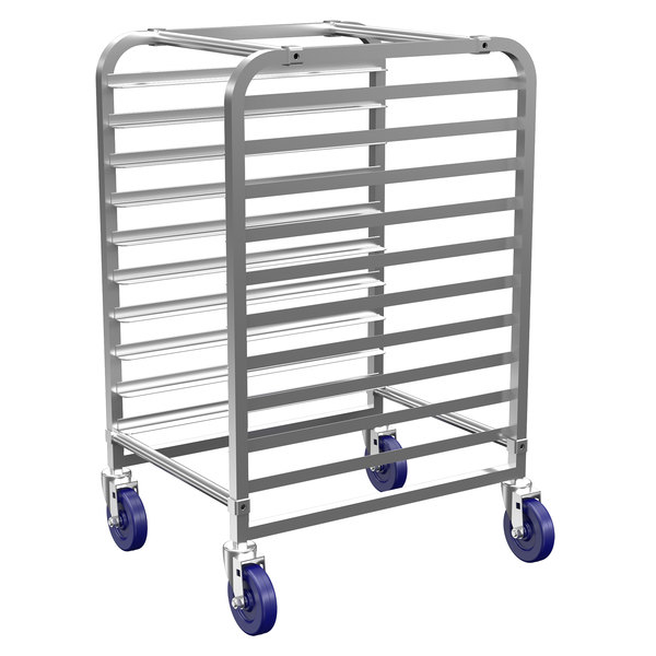 winholt al1810hkd 10 pan end load half height aluminum bun sheet pan rack unassembled