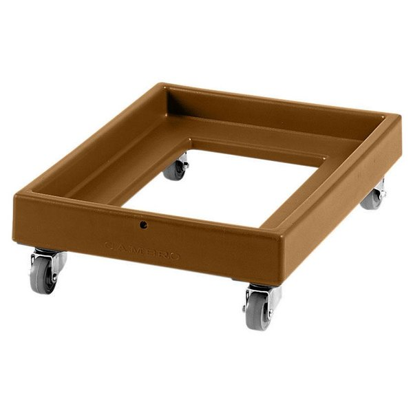 Cambro CD2028157 350 lb. Coffee Beige Camdolly Milk Crate Dolly