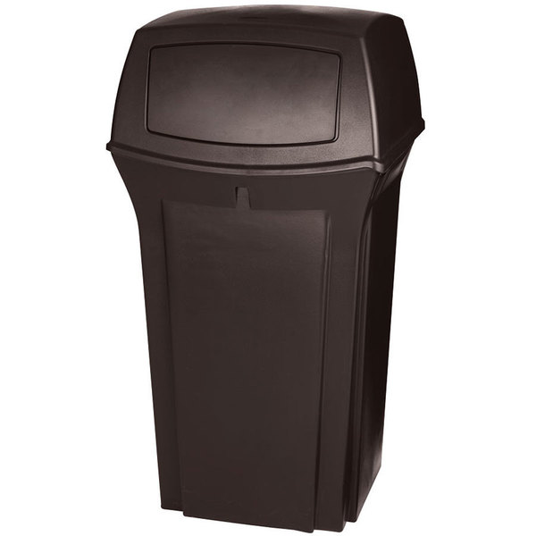 rubbermaid fg843088brn ranger brown container with 2 doors 35 gallon. Black Bedroom Furniture Sets. Home Design Ideas