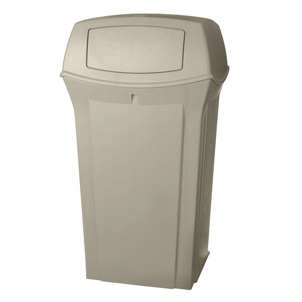 Rubbermaid FG917500BEIG Ranger Beige Container with 2 Doors 65 Gallon