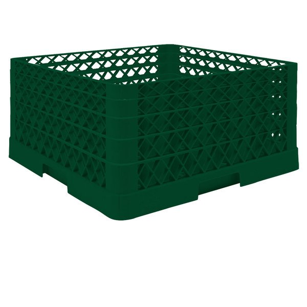 """Vollrath TR6BBBA Traex® Full-Size Green 25-Compartment 9 7/16"""" Glass Rack with Open Rack Extender On Top Main Image 1"""