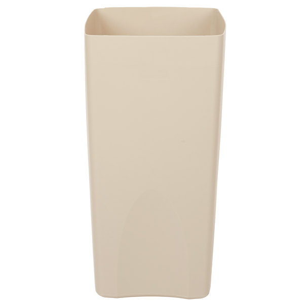 Rubbermaid FG356300BEIG Beige Square Rigid Plastic Liner for FG9P9000 and FG9P9100 Containers 19 Gallon Main Image 1