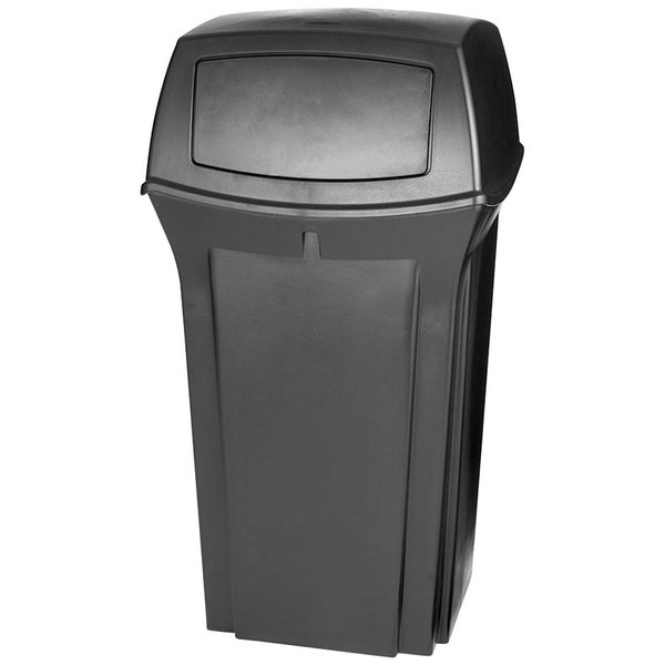 Rubbermaid FG843088BLA Ranger Black Container With 2 Doors 35 Gallon
