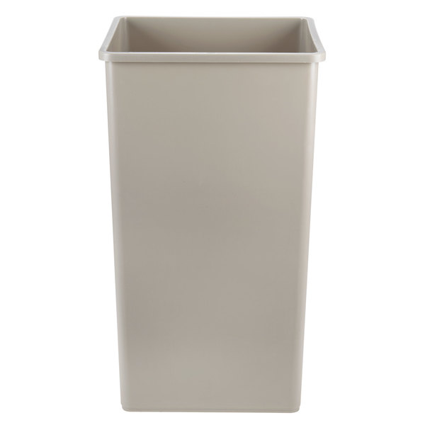 Rubbermaid FG395900BEIG Untouchable Beige Square Rigid Plastic Liner for FG917500 and FG917600 50 Gallon Containers