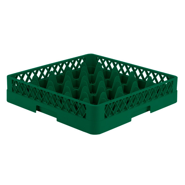 """Vollrath TR6 Traex® Full-Size Green 25-Compartment 3 1/4"""" Glass Rack"""