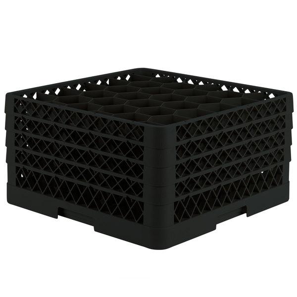"Vollrath TR12HHHH Traex® Rack Max Full-Size Black 30-Compartment 9 7/16"" Glass Rack"