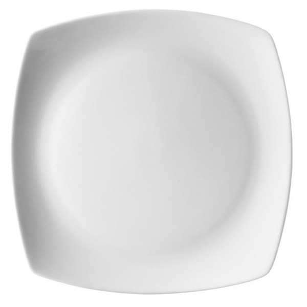 "10 Strawberry Street AUR-5 Aurora Square 6"" White Porcelain Bread and Butter Plate - 48/Case"
