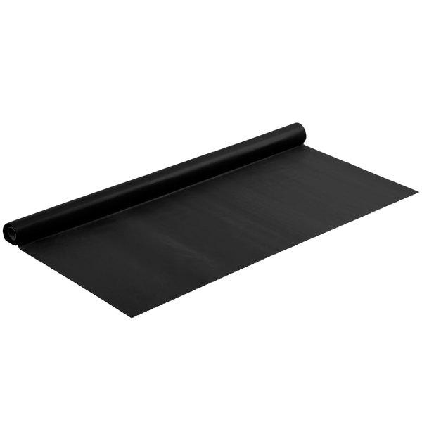 "Black 40"" x 100' Plastic Table Cover"
