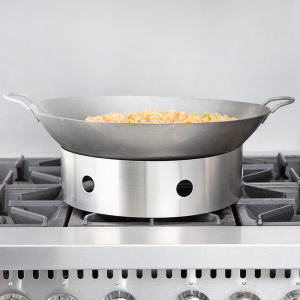 """Town Food Service 34710 10/"""" Plated Steel Wok Ring"""